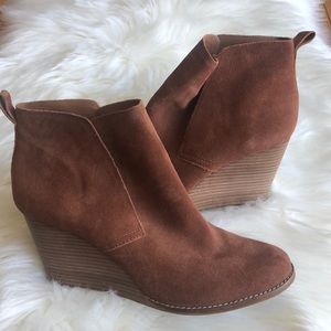 Lucky Brand Suede Wedge Yoniana Bootie